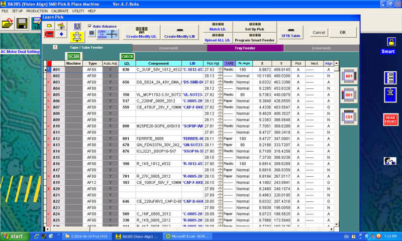 The pick and place machine gets data directly from CAD software It eliminates any error caused by the machinist people