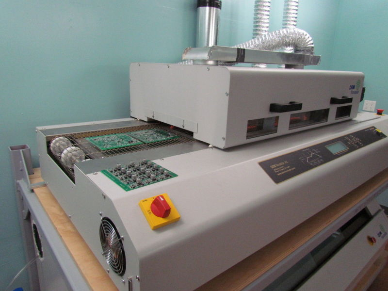 The reflow oven is used to solder SMD surface mount components