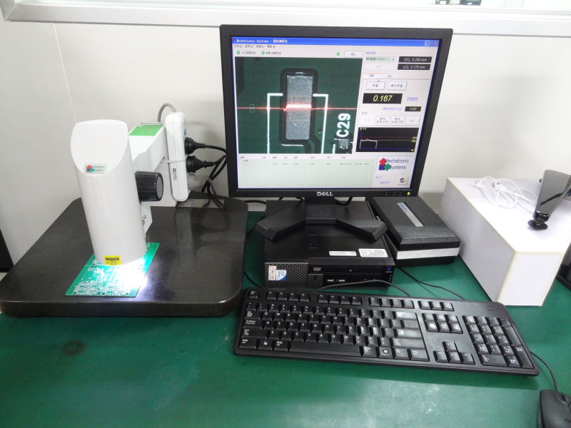 The quality and of the solder paste and accuracy of the stencil is checking by optical system