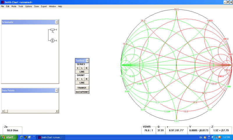 The Smith Chart is a part of the Net Analyzer process of an antenna final tuning