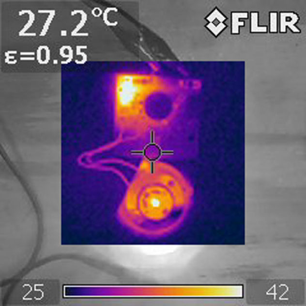 The Flir Thermal Imager Camera is use to final test of the prototype performance