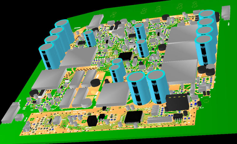 The PCB 3D visualization